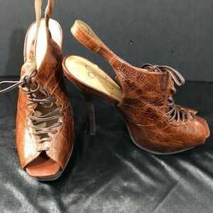 EUC JESSICA SIMPSON Lace up Sandals Size 7
